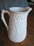 Click here to enlarge image and see more about item parian103106: Parian Ware Pitcher