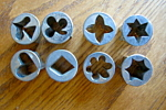 Click here to enlarge image and see more about item pastry40716: Vintage Czechoslovakian Petit Four Molds