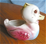 Click here to enlarge image and see more about item pduck06061: Vintage Duck Planter