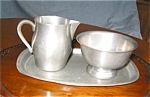 Click here to enlarge image and see more about item pew10415: International Pewter Creamer,  Sugar and Tray
