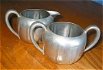 Click here to enlarge image and see more about item pew20428: Vintage Concord Pewter Creamer and Sugar