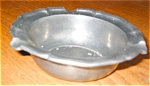 Click here to enlarge image and see more about item pew404251: Pewter Ashtray Vintage