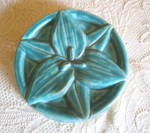 Click here to enlarge image and see more about item pewabicpottery0815: Pewabic Pottery Flower Tile