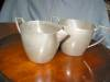 Click to view larger image of Vintage White Pewter Creamer and Sugar (Image3)
