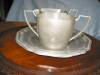 Click to view larger image of Vintage White Pewter Creamer and Sugar (Image4)