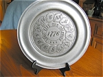 Click to view larger image of Two Pewter? Display Plates (Image1)