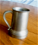 Click here to enlarge image and see more about item pewter10505: Vintage Miniature PewterTankard