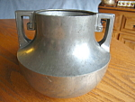 Click here to enlarge image and see more about item pewter110908: Wallace Pewter Vase Vintage