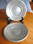 Click to view larger image of Vintage Pewter Plates (Image1)