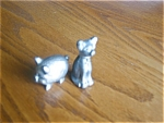 Click here to enlarge image and see more about item pewter70521b: Miniature Pewter Cat