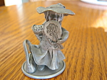 Click here to enlarge image and see more about item pewter70613: Miniature Pewter Girl