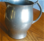 Click here to enlarge image and see more about item pewter904081: Revere Pewter Water Pitcher