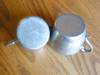 Click to view larger image of Vintage Pewter Creamer and Sugar (Image2)