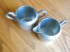 Click to view larger image of Vintage Pewter Creamer and Sugar (Image3)