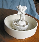 Click here to enlarge image and see more about item phag06062: Haeger Vase and Cherub Flower Insert