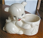 Click here to enlarge image and see more about item phul04043: Hull Pottery Bear Planter