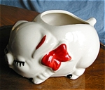 Click here to enlarge image and see more about item pig80402: Vintage Pig Planter