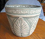Click here to enlarge image and see more about item planter20831: Vintage USA Leaf Jardinaire