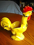 Vintage Yellow Rooster Planter