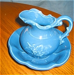 Click to view larger image of Vintage McCoy Pitcher and Bowl (Image1)