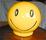 Click here to enlarge image and see more about item pmc12039: McCoy Happy Face Bank Vintage
