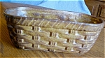Click to view larger image of Vintage McCoy Basketweave Planter (Image1)