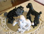 Click here to enlarge image and see more about item poodles0316: Poodle Figurines Vintage Trio