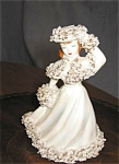 Click here to enlarge image and see more about item porc12022: Vintage Lady Figurine