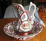 Click here to enlarge image and see more about item porcelain807: Porcelain Pitcher and Bowl