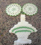 Click here to enlarge image and see more about item potholders060911: Vintage Crocheted Potholders