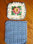 Click here to enlarge image and see more about item potholders80606: Two Potholders