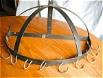 Click here to enlarge image and see more about item potrack30622: Vintage Wrought Iron Pot Rack