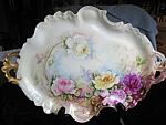 Click here to enlarge image and see more about item pouyat102106: Limoges Antique Signed Tray