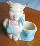 Click here to enlarge image and see more about item ppig06061: Vintage Pig Planter