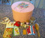 Click here to enlarge image and see more about item princessbasket010511: Vintage Sewing Basket Princess