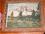 Antique Hand Tinted Teton's Print
