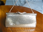 Click here to enlarge image and see more about item purse100527: Fay Swafford Mesh Clutch Purse