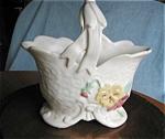 Click here to enlarge image and see more about item pwel01031: Vintage Weller Delsa Basket Vase