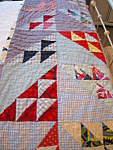 Click here to enlarge image and see more about item quilt1007: Small Vintage Hand Stitched Quilt