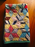 Click to view larger image of Antique Small Quilt Hand Stitched (Image1)