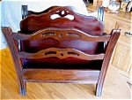 Click here to enlarge image and see more about item rack10626: Vintage Mahogany Magazine Rack