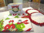 Click to view larger image of Holiday Vintage Recipe Box & Linens (Image7)