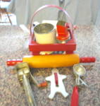 Click here to enlarge image and see more about item red2013: Kitchen Red Collectibles
