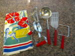 Click to view larger image of Red Bakelite Kitchen Utensils (Image6)