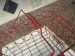 Click to view larger image of Vintage Red Metal Basket (Image3)