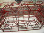 Click to view larger image of Vintage Red Metal Basket (Image4)