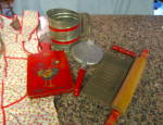 Click to view larger image of Red Vintage Kitchen Gadgets (Image1)