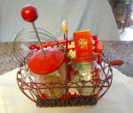 Click here to enlarge image and see more about item redkitchen2013: VIntage Red Kitchen Accessories