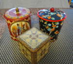 Click here to enlarge image and see more about item redtins0316: Tin Trio Vintage