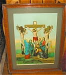 Click here to enlarge image and see more about item relig06063: Antique Chromolithograph Jesus Print